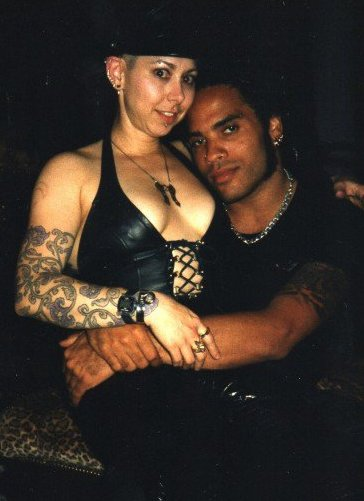 Lenny Kravitz and I at his French Quarter home, 1997