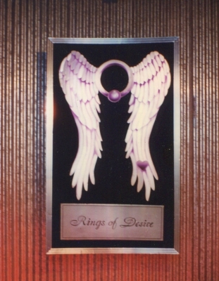 Rings of Desire Sign with Wings Logo